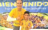 El entrenador Sergio Torres con el alumno Juan Manuel Coronado Berlanga en una fotografía tomada previo a la pandemia del Covid-19.